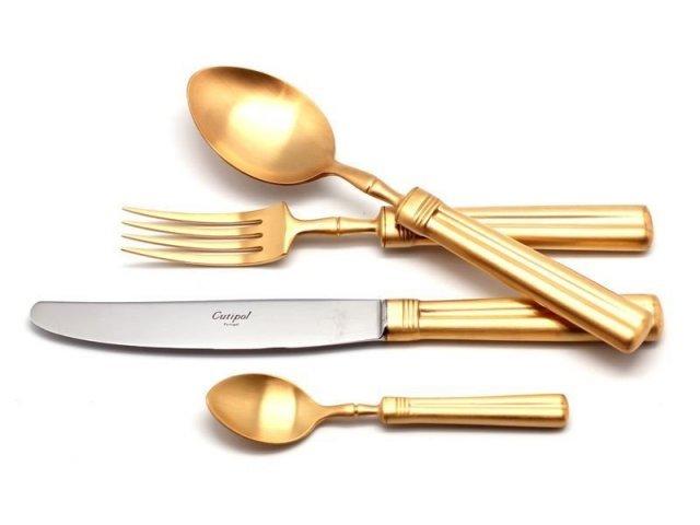 Набор столовых приборов Cutipol FONTAINEBLEAU GOLD мат. на 12 персон 72 предмета