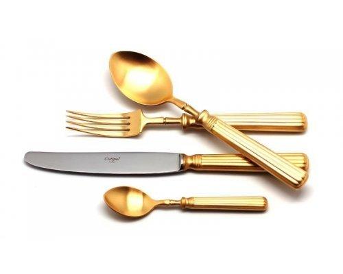 Набор столовых приборов Cutipol LINE GOLD мат. на 6 персон 24 предмета