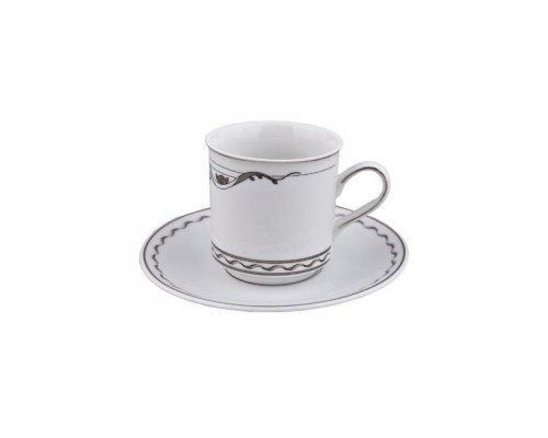 Набор из двух чайных пар 0,20л Rudolf Kampf Роза и Ленты 2275 в подарочном коробе