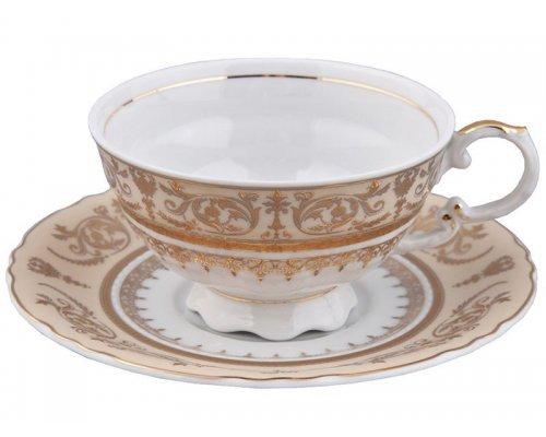Чашка низкая с блюдцем 0,20л Rudolf Kampf Национальные Традиции 238С
