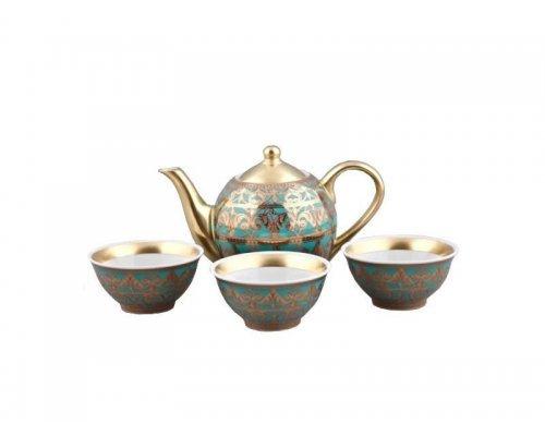 Подарочный набор чайный Тет-а-тет Rudolf Kampf Александрия 2282 на 3 персоны в подарочном коробе 0.2 л