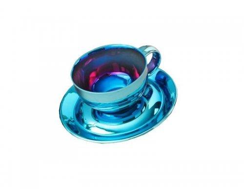 Чашка низкая с блюдцем Rudolf Kampf Мария-Тереза 2005 в подарочном коробе, чашка 0,20л