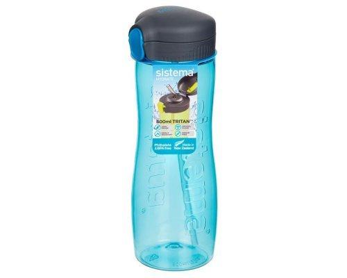 Бутылка для воды с трубочкой Sistema тритан 800мл