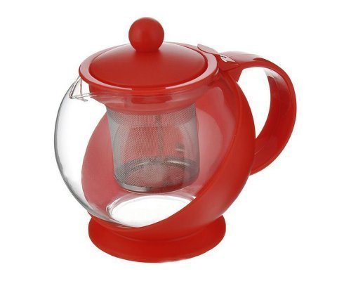 Чайник заварочный с фильтром красный Hans & Gretchen 14YS-8061 0.75 л