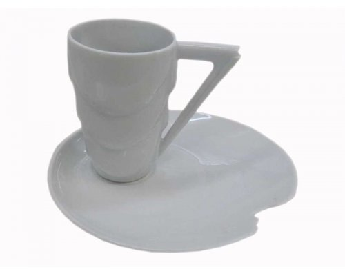 Чашка с блюдцем Rudolf Kampf Manhatten 0000 в подарочном коробе 0,1 л
