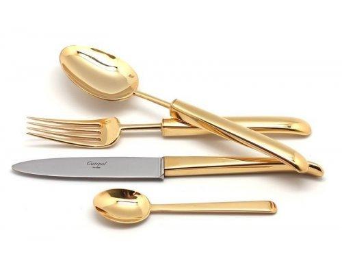 Набор столовых приборов Cutipol CARRE GOLD на 6 персон 24 предмета