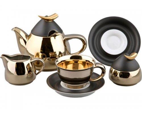 Сервиз чайный Rudolf Kampf Кельт 251А на 6 персон 15 предметов с чайником 1,20л в подарочном коробе