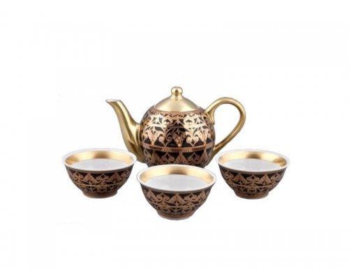 Подарочный набор чайный Тет-а-тет Rudolf Kampf Александрия 2283 на 3 персоны 0.2 л