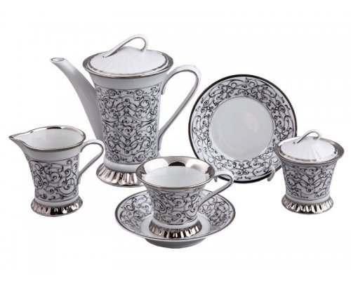 Сервиз чайный Rudolf Kampf Византия C936 на 6 персон 15 предметов в подарочном коробе