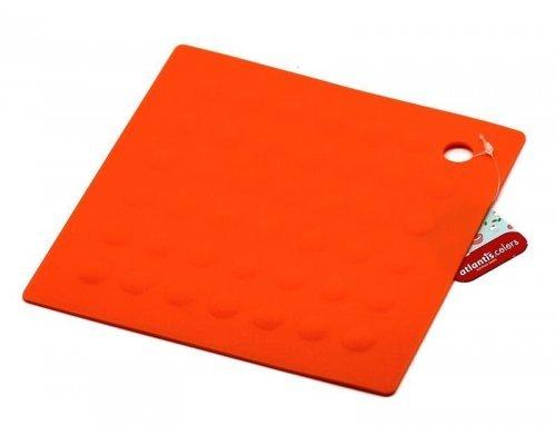 Подставка под горячее Atlantis Silicon квадратная оранжевая