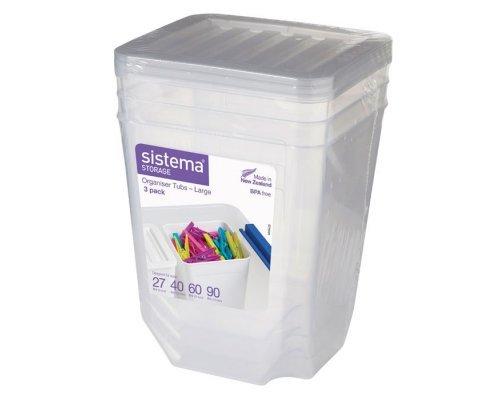Набор органайзеров для хранения Sistema 3 шт по 1,8л