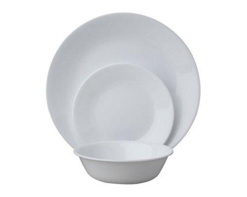 Набор посуды столовый сервиз Corelle Winter Frost White на 6 персон 18 предметов
