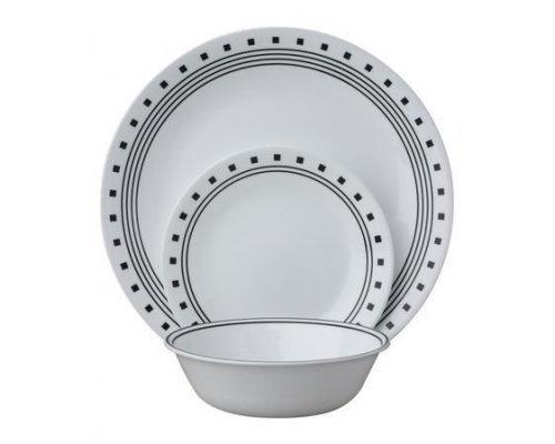Набор посуды столовый сервиз Corelle City Block на 6 персон 18 предметов