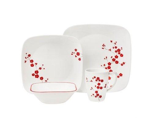 Набор посуды столовый сервиз Corelle Hanami Garden на 4 персоны 16 предметов