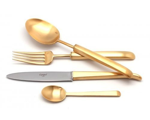 Набор столовых приборов Cutipol CARRE GOLD мат. на 12 персон 72 предмета