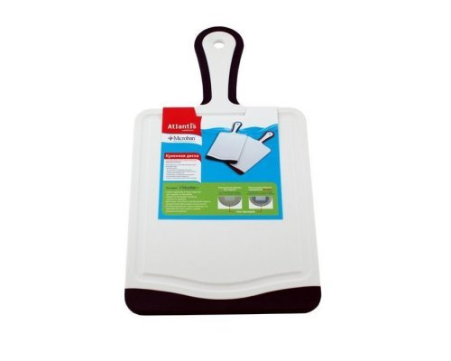 Кухонная доска Microban FLUTTO 35*18см Черно-белая