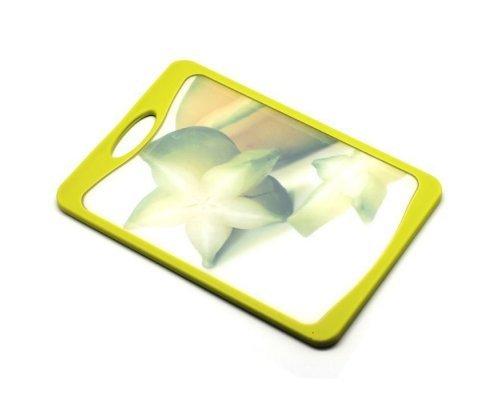 Кухонная доска Microban FLUTTO 37*25см Желто-зеленая