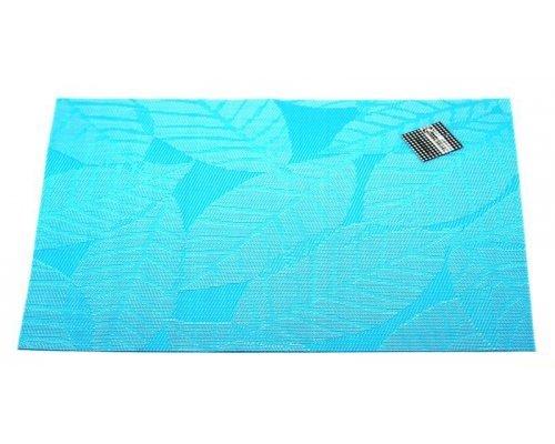 Подставка под горячее Hans & Gretchen полимер 30*40см голубая листья