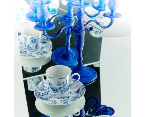 Набор чашек высоких с блюдцами Rudolf Kampf Пастораль в подарочном коробе 0,2 л
