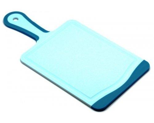 Кухонная доска с ручкой Microban FLUTTO 35*18см голубая