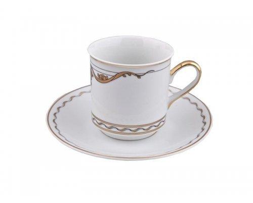 Набор из двух чайных пар 0,20л Rudolf Kampf Роза и Ленты 2274 в подарочном коробе