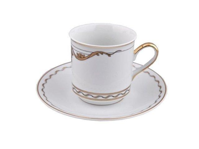 Набор из двух чайных пар Роза и Ленты 2274 Rudolf Kampf в подарочном коробе 0,2 л