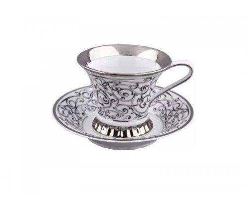Чашка высокая с блюдцем 0,20л Rudolf Kampf Византия C936 в подарочном коробе