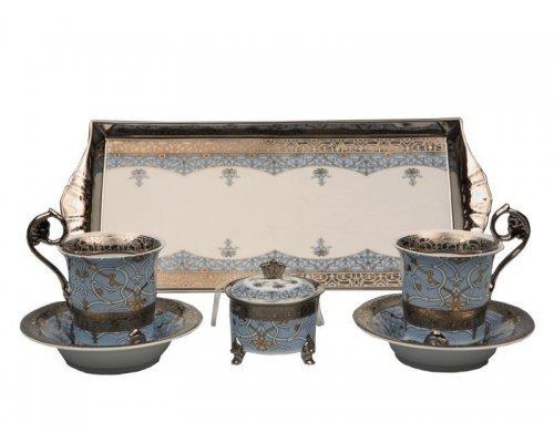 Подарочный набор чайный Тет-а-тет Rudolf Kampf Национальные Традиции 2065 на 2 персоны в подарочном коробе