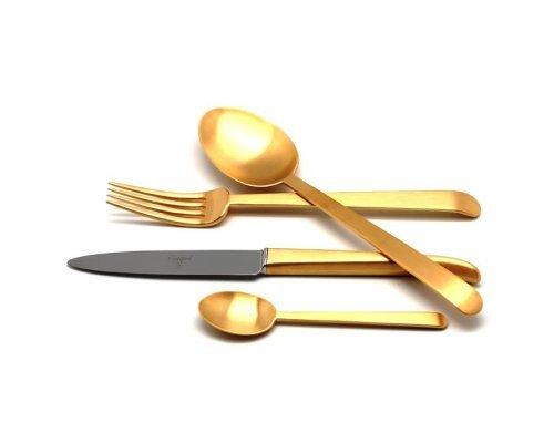Набор столовых приборов ERGO GOLD матовый 24 предмета