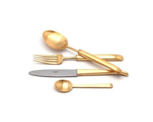 Набор столовых приборов Cutipol CARRE GOLD матовый на 6 персон 24 предмета