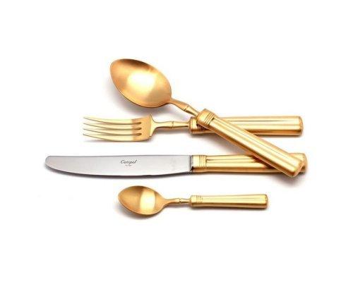 Набор столовых приборов FONTAINEBLEAU GOLD матовый 130 предметов