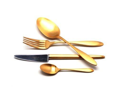 Набор столовых приборов VAN DER ROHE GOLD матовый 24 предмета