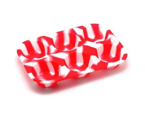 Форма для выпечки кексов Маффин Aatlantis Silicon Красно-белый